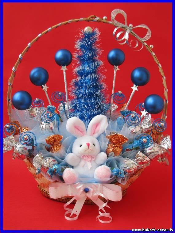 Новогодняя игрушка с конфетами своими руками