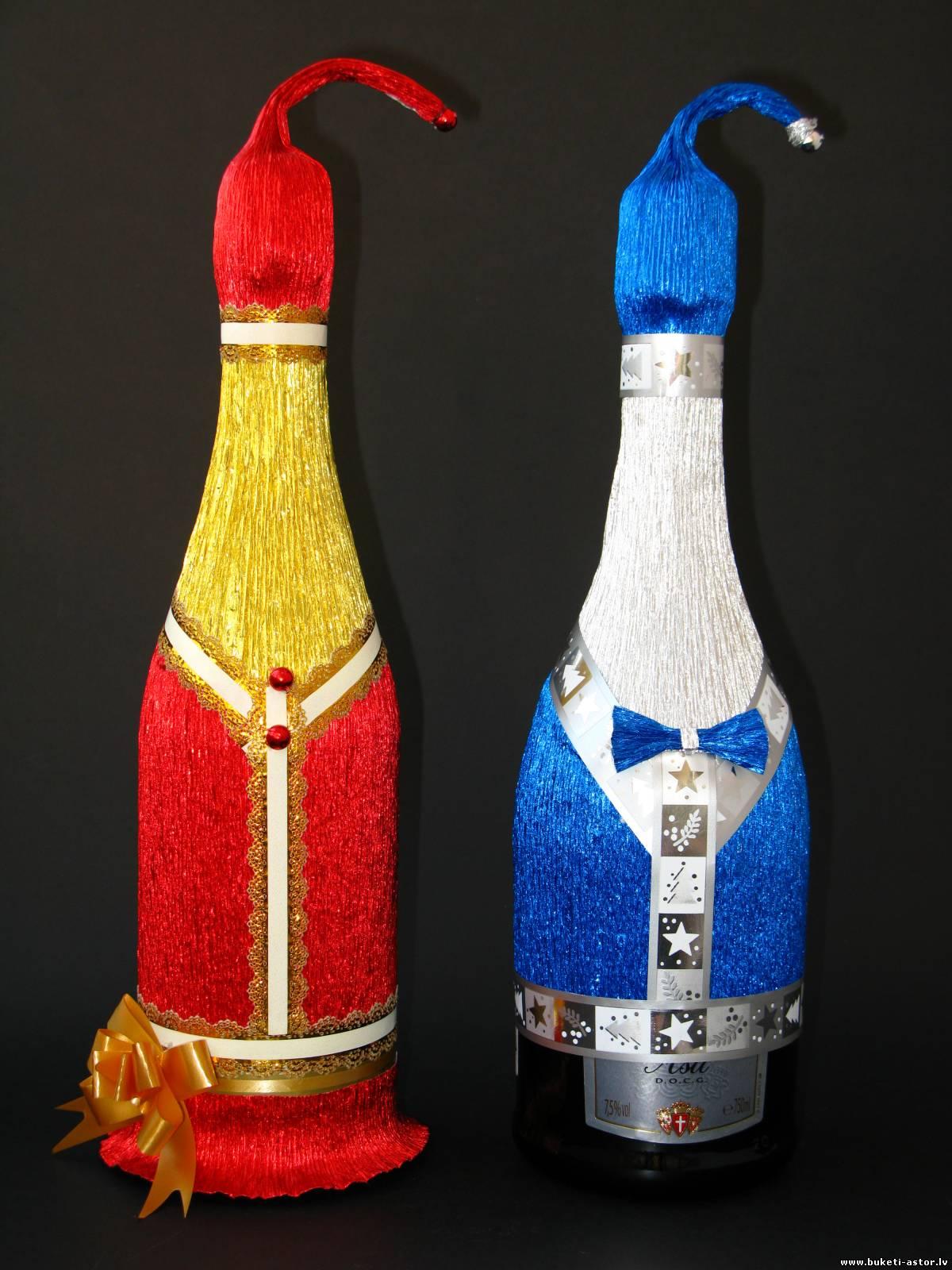 Поделки бутылки 11