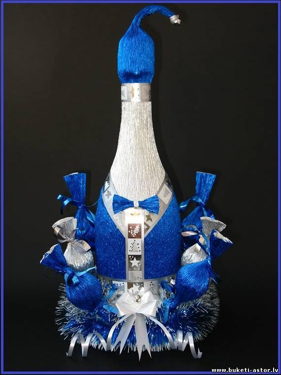 Своими руками подарки к новому году из шампанского и конфет