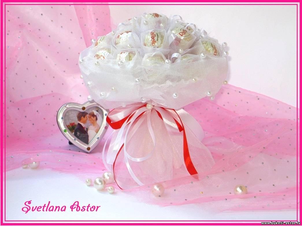 Букет из конфет невесты своими руками 18
