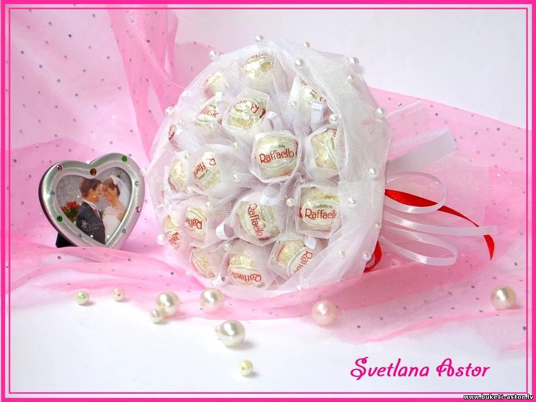 Букет из конфет невесты своими руками 71