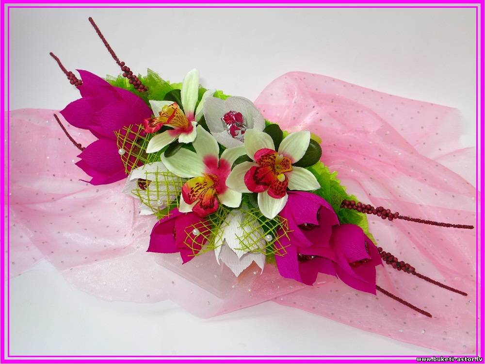 Букеты с орхидеями своими руками 1