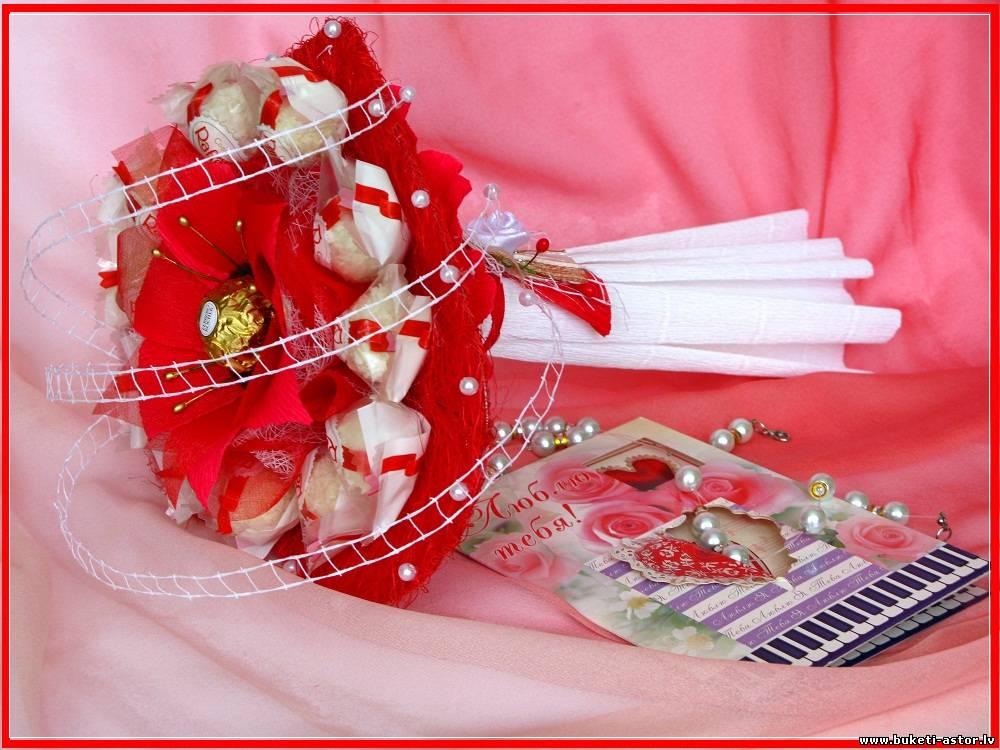 Как сделать сердечко из конфет