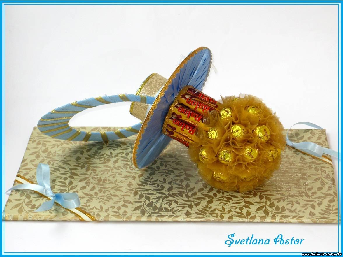 Подарок из конфет мастер класс с пошаговым фото 73
