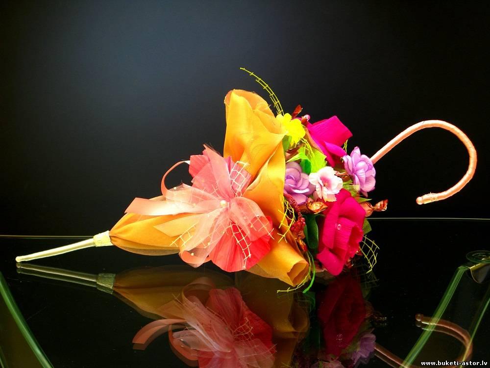 Зонт с цветами своими руками 719
